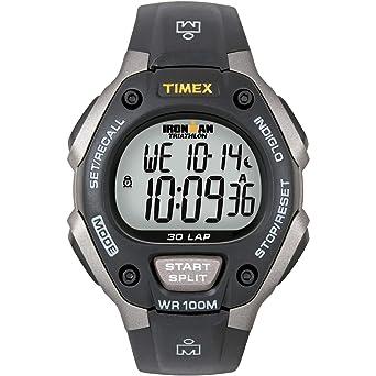 b710b3b8e Amazon.com: Timex Men's T5E901 Ironman Classic 30 Gray/Black Resin ...