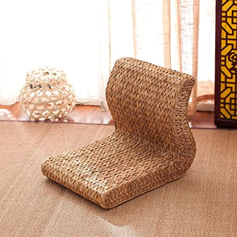 Amazon.com : Grass Rattan Stool Cushion Futon Low Bench ...