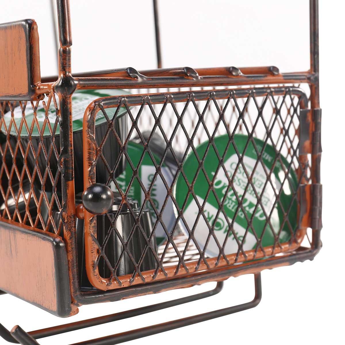 TOOARTS Portabottiglie da parete Supporto a parete in vetro con supporto per contenitore di stoccaggio in sughero con 5 zaini porta vino in vetro portaoggetti