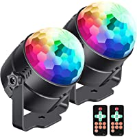 Neewer 2-Pack Stage Light Sound Activated Party Lights with Remote Control for Home Room Dance Parties Birthday DJ Bar Karaoke Xmas Wedding Show Club