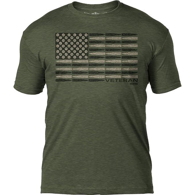 92aaa717a 7.62 Design Military Veteran 'Tactical Flag' Patriotic Men's T Shirt,Heather  Military Green