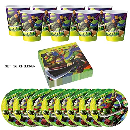 IRPot - Kit de cumpleaños para niño con tortugas Ninja ...