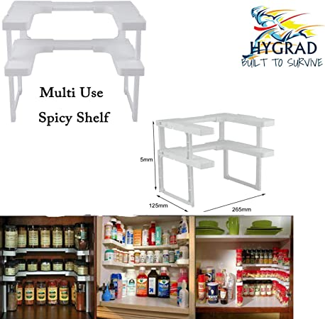 Spicy Shelf Spice Rack And Stackable Organizer Adjustable Easy To See All Spices Spice Jars Racks Home Garden