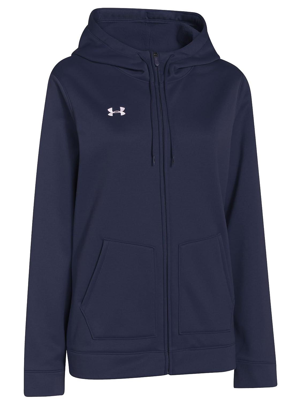 3b7751952 Amazon.com: Under Armour Women's UA Storm Armour Fleece Full Zip Hoody,  Midnight Navy/White, Small: Clothing