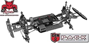 Redcat Racing Gen8 PACK - 4WD Scale Rock Crawler Chassis Kit with Portal Axles, 1/10 scale - Pre-Assembled Slider Kit