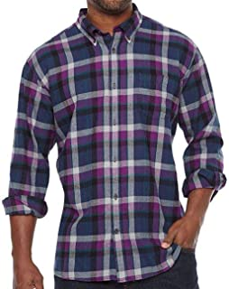 Men/'s Foundry Supply Co Big /& Tall Button Front Long Sleeve Flannel Shirt