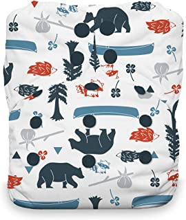 product image for Thirsties Natural One Size All in One Cloth Diaper, Snap Closure, Adventure Trail