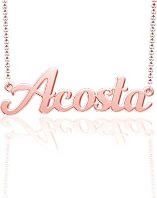 Moonlight Collections Grant Necklace Monogrammed Necklace Silver 925 Sterling Silver
