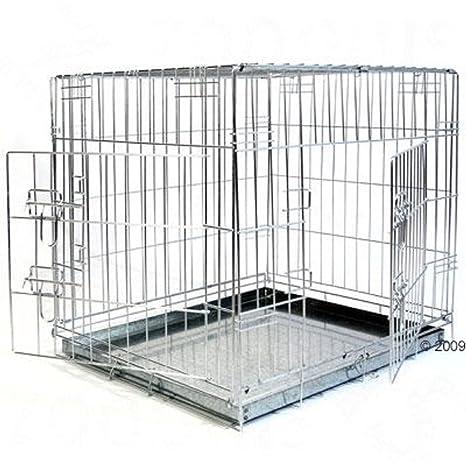 Jaula de doble puerta para perro (XL): Amazon.es: Productos para ...