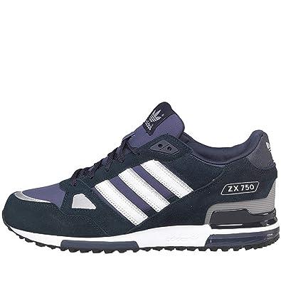 cd29f59433c7e8 ... schwarz 558d9 eb4d5  spain herren navy blau weiß adidas originals zx 750  streifen wildleder turnschuhe amazon.de schuhe