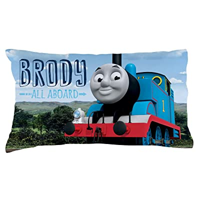 Personalized Thomas & Friends Pillowcase, All Aboard on Multicolor Cover, Official Licensed Product, 20x31, STD/Queen: Home & Kitchen
