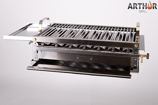 Arthur Grill - Barbacoa de gas desmontable de acero inoxidable: Amazon.es: Jardín