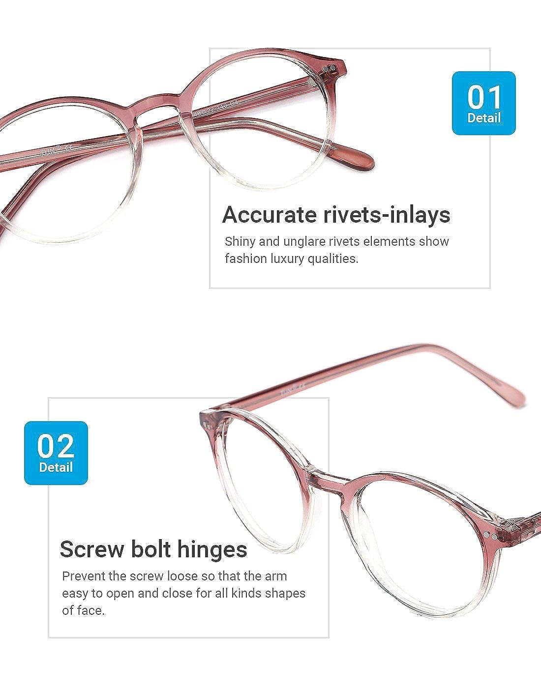8cd974bad6e TIJN Vintage Women Thick Round Rim Non-prescription Glasses Eyeglasses  Clear Lens 00076104