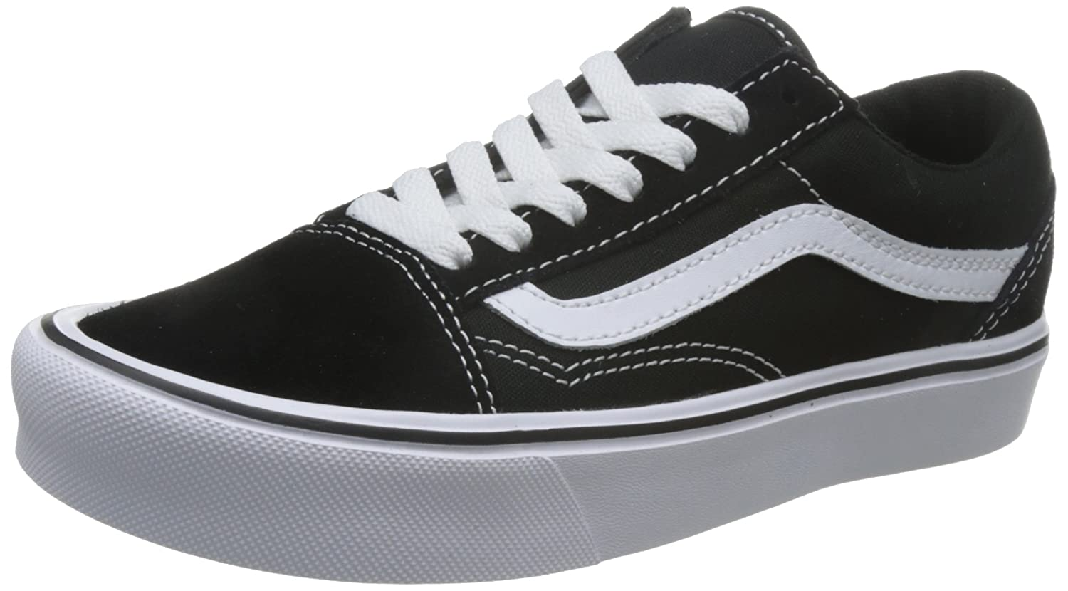 Vans Unisex Old Skool Lite (Suede/Canvas) D(M) Skate Shoe B01GTOBTBO 7 D(M) (Suede/Canvas) US|Black/White 14b77b