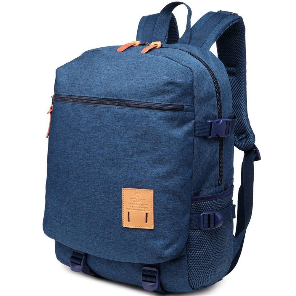 Sensexiao Bergsteigen Herren Reise Rucksack beiläufige Wasserdichte Oxford Tuch 15,6-Zoll-Laptop Daypack Commerce Business Trip (Farbe   Blau)