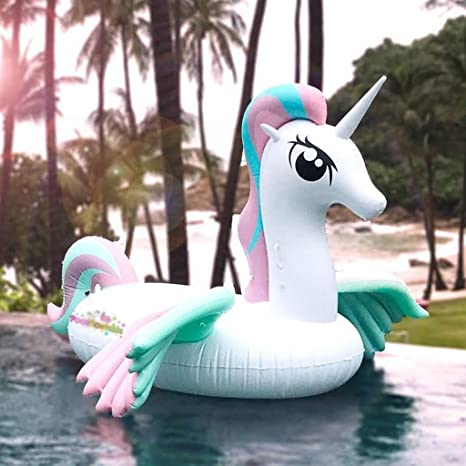 WLWWY Unicornio Inflable Gigante, Pony Rainbow Beast Boya De Vida ...