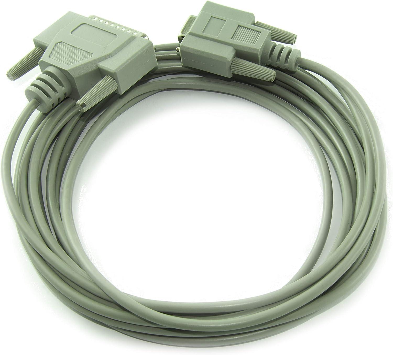 CDL Micro - Cable de Impresora (Conector DB9 Hembra RS232, 9 Pines ...