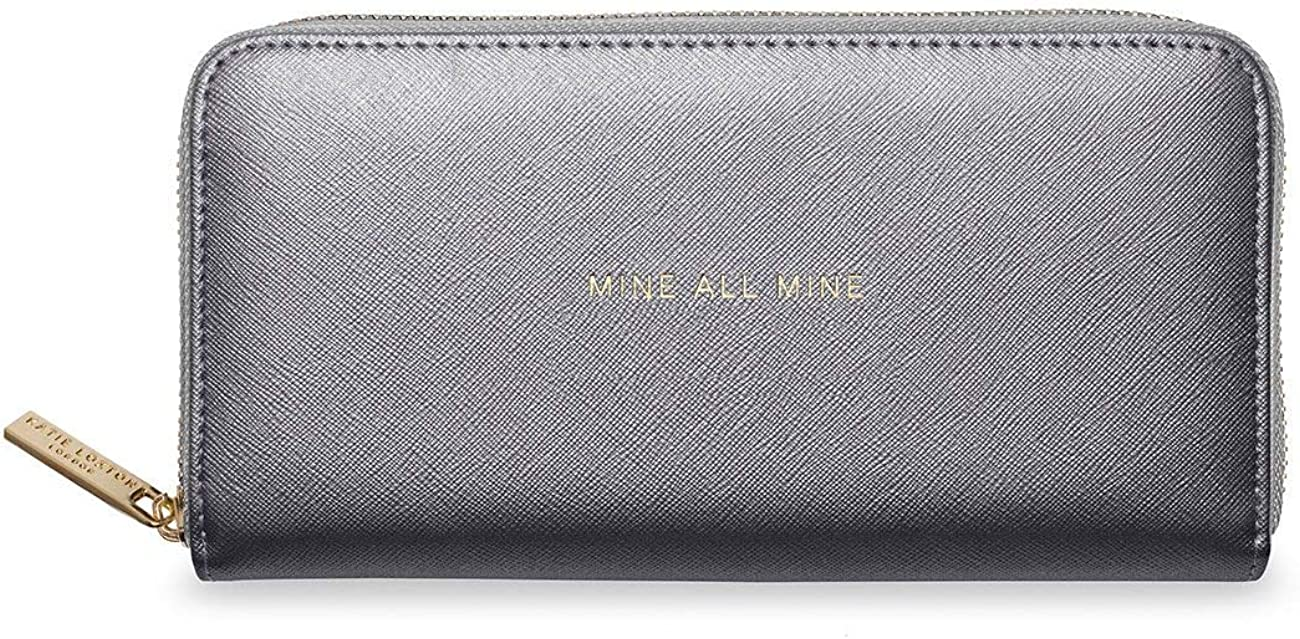 Katie Loxton Sentiment Womens Vegan Leather Full Zip Fashion Wallet Purse