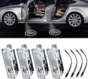 4Pcs LED Car Logo Lights Ghost Light Door Light Projector Welcome Accessories Emblem Lamp For BMW M Compatible