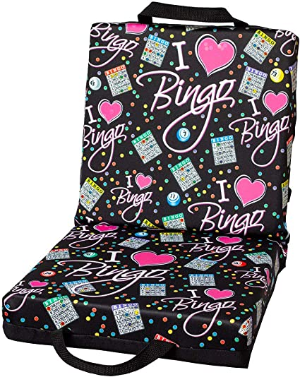 ABS Novelties Blue Bingo Pattern Double Cushion Black