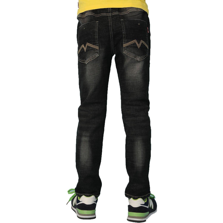 Leo&Lily Big Boys' Jeans, Black, 12