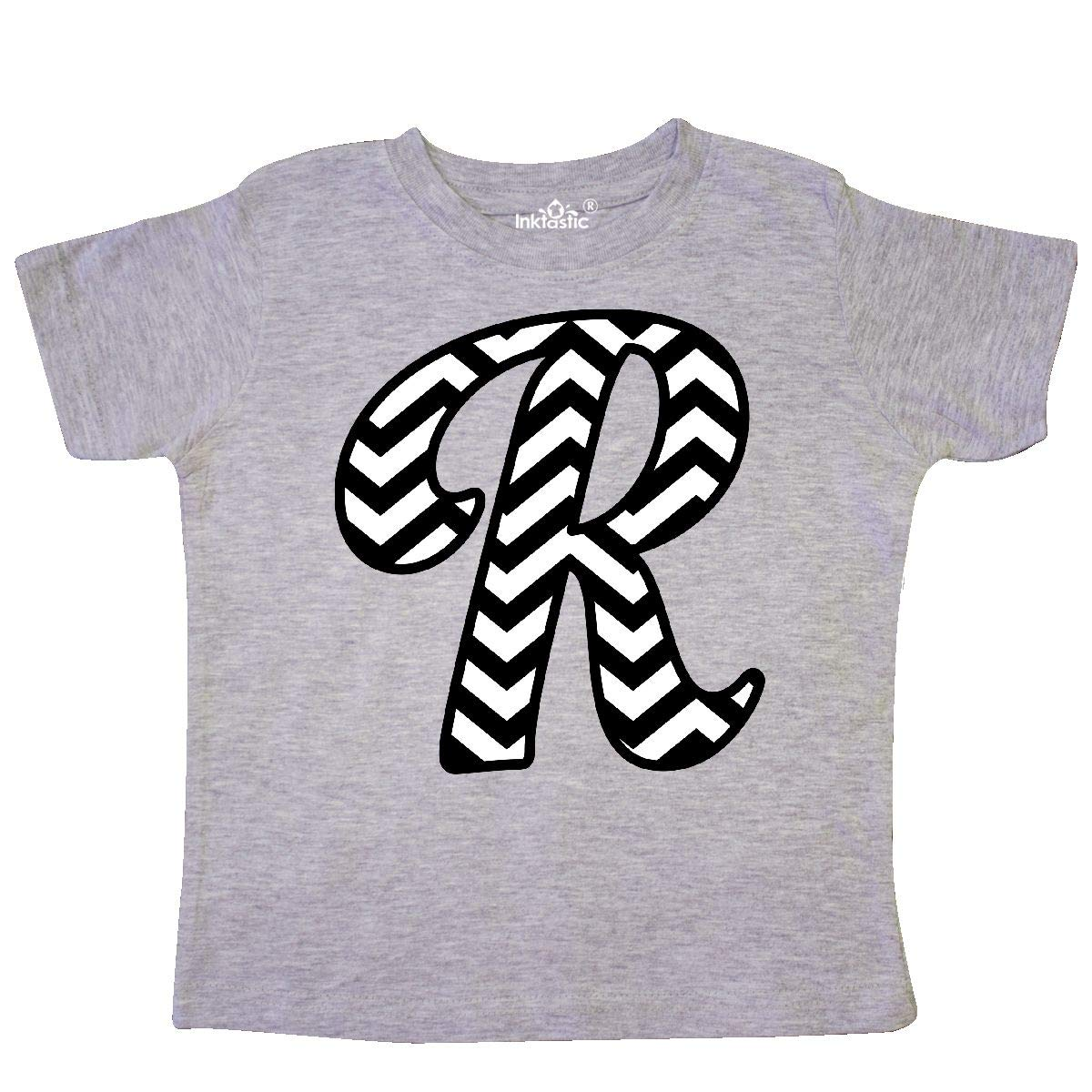 inktastic Monogram Letter R Chevron Toddler T-Shirt
