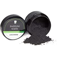 COCOSME Activated Charcoal Teeth Whitening Powder - for white healthy and clean teeth - 100% Natural and Vegan - mint…
