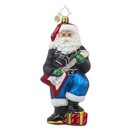 Radko Rockin adorno de cristal Nick de Papá Noel para guitarra ...