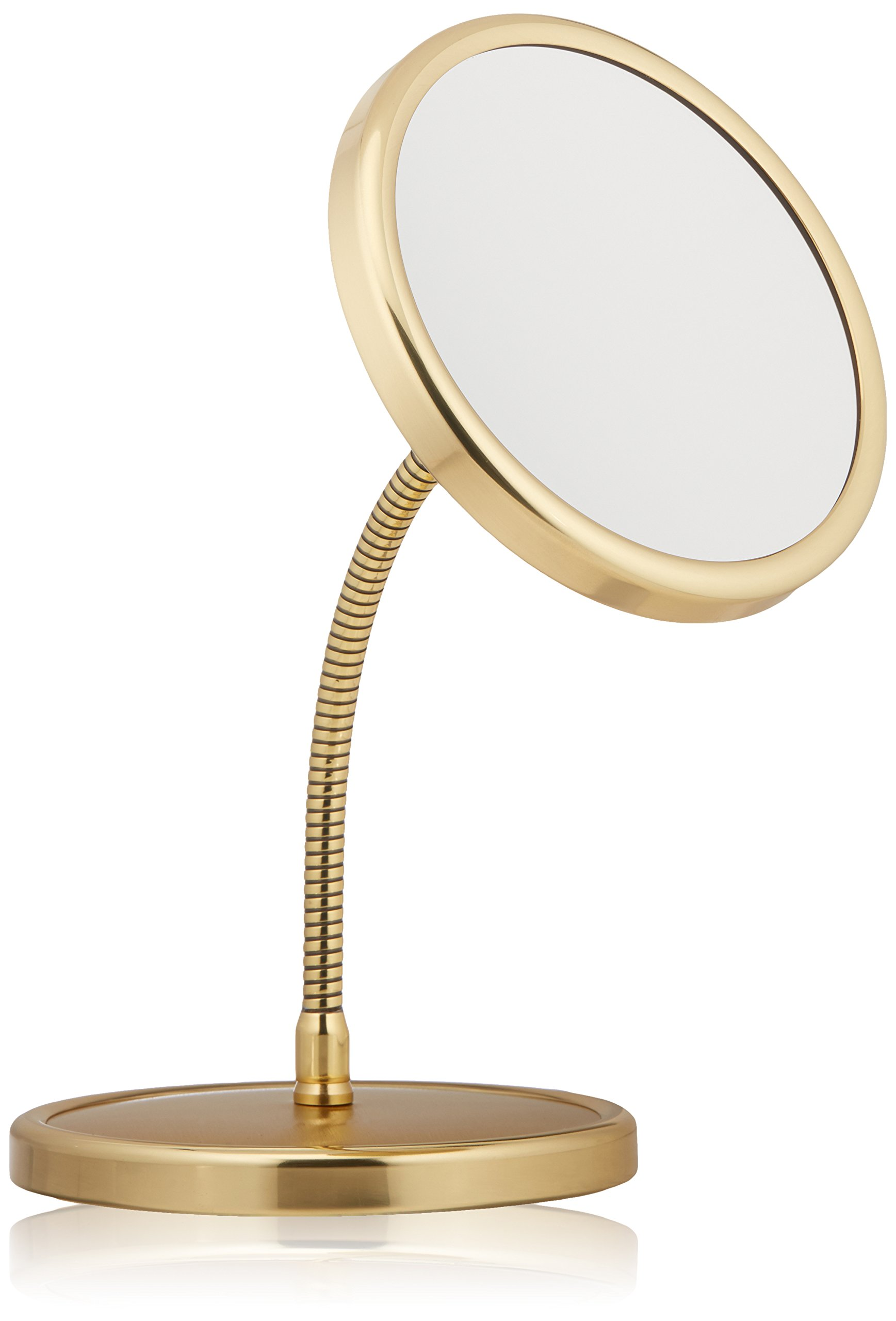 Frasco Mirrors Swan Neck Double Sided Mirror, Brass, 1.5 lb.