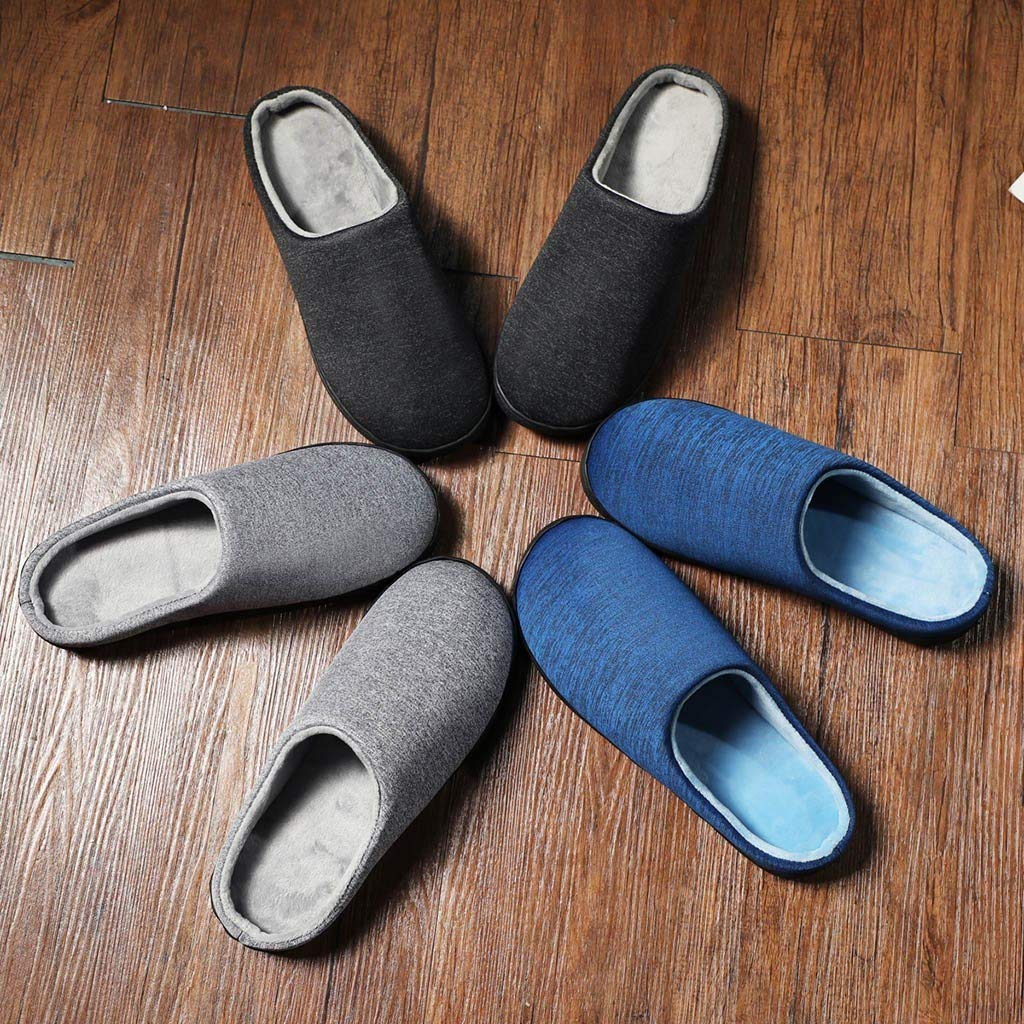 Men's and Women's Comfort Quilted Memory Foam Fleece Lining House Slippers Slip On Clog House Shoes,SUNSEE 2019 by MEN SHOES BIG PROMOTION-SUNSEE (Image #6)