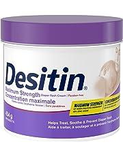 Desitin Diaper Rash Cream for Baby, Zinc Oxide Cream, Maximum Strength, 454 Gram