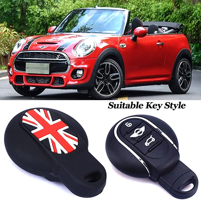 1 opinioni per Cover per chiave dell'auto, Red Black for F56 F55 F54