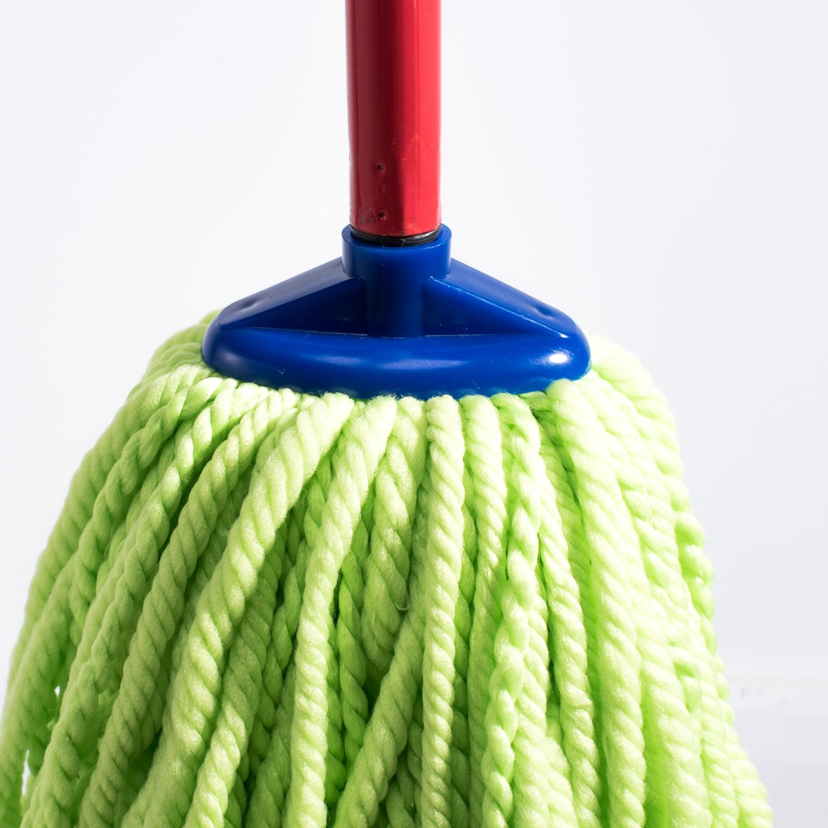 QIPENG 12'' Professional Microfiber Mop Head 4 Pack, Washable Wet and Dry Mop Heads, Super Absorbent Mop (Green) by QIPENG (Image #4)