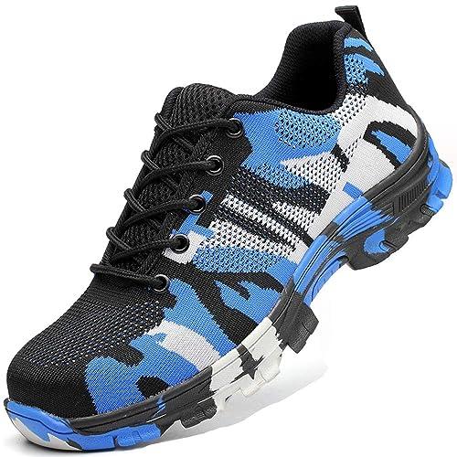 Hombre Zapatos de Seguridad Calzado Zapatillas de Trabajo con Puntera de Acero para Mujer: Amazon.es: Zapatos y complementos