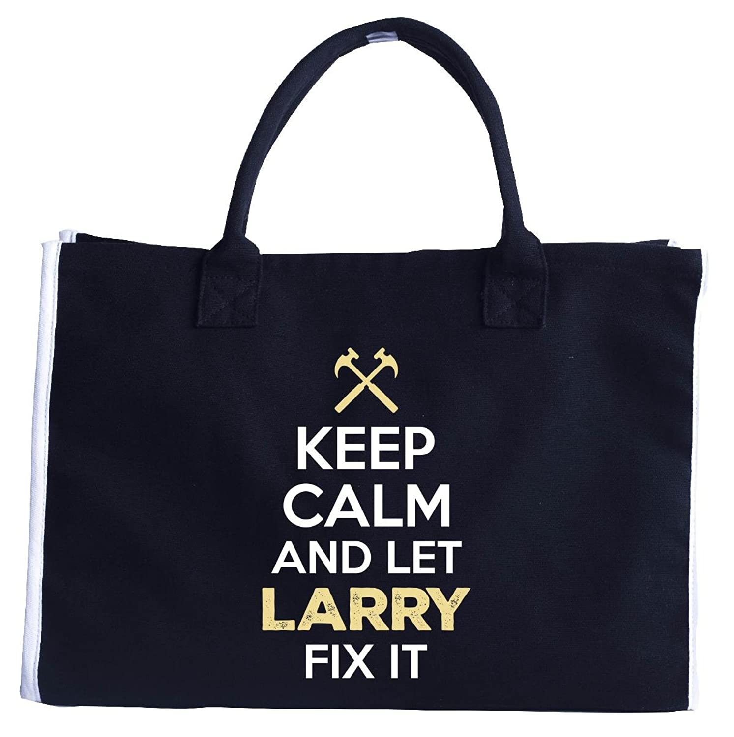 Keep Calm And Let Larry Fix It - Fashion Customized Tote Bag
