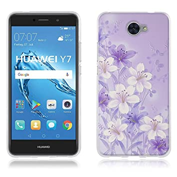 DIKAS Funda Carcasa para Huawei Y7, Carcasa de Silicona Transparente TPU, Carcasa Protectora de Goma de Altisima Calidad para Huawei Y7