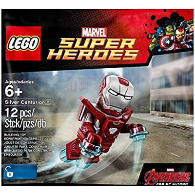 LEGO Super Heroes: Silver Centurion Exclusive Minifigure - Iron Man Mark 33 Armor: Toys & Games