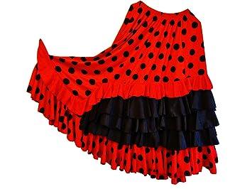 Jupe de Danse Flamenco SEVILLANE 5 Volants Traditionnelle L XL ... 21d675a4030