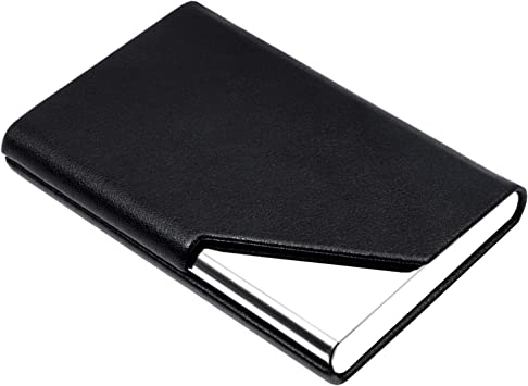 Leather 40 Card Commercial Name ID Credit Card Book Case Holder Organi~GN