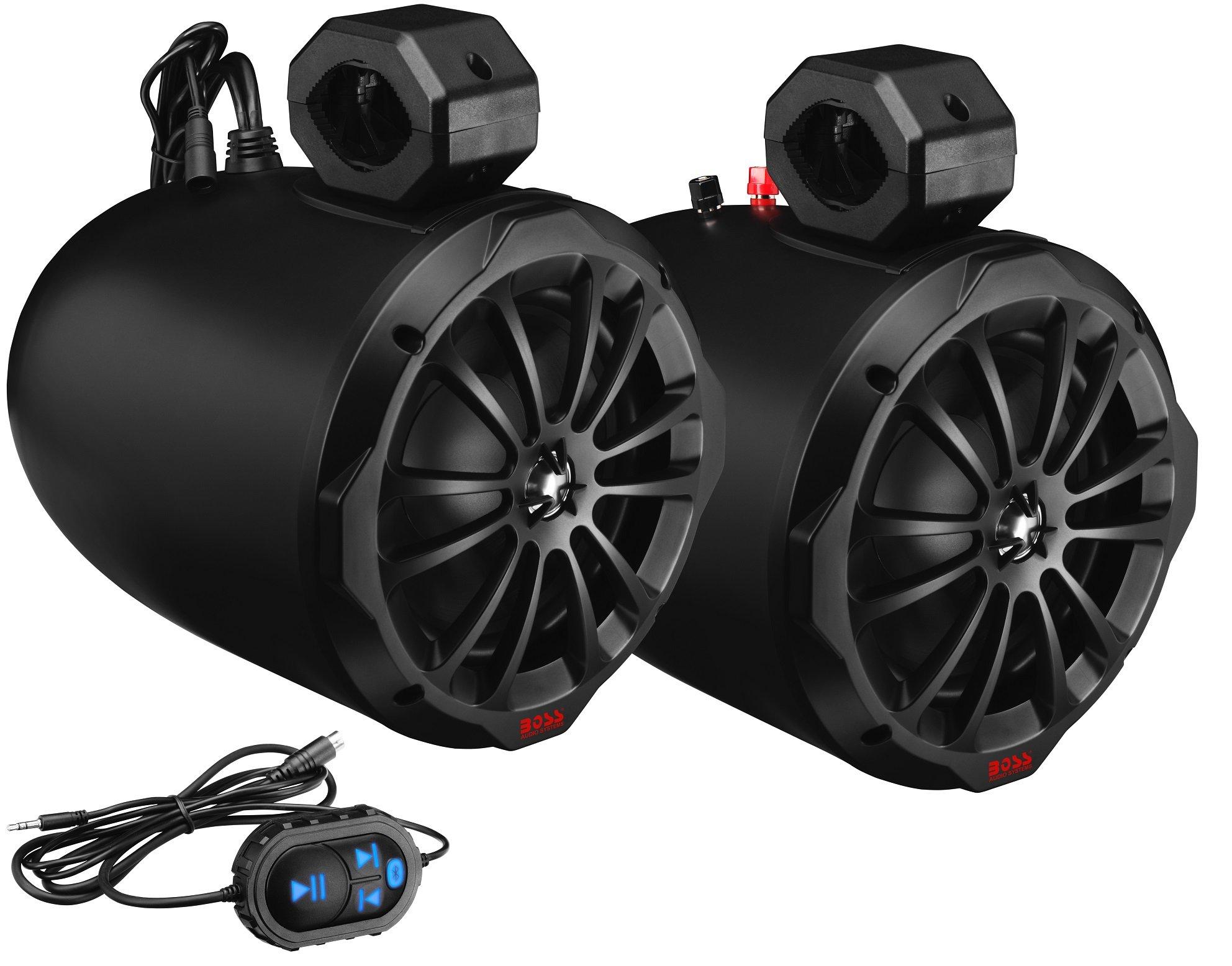 4 Pack Boss Audio 4 2 Way 400W Weatherproof Marine Grade Speaker Waketower