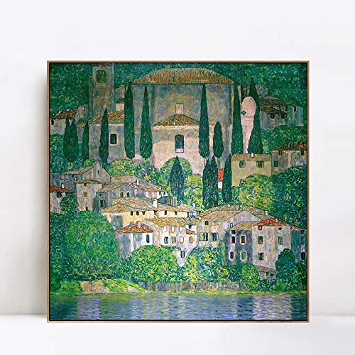 INVIN ART Framed Canvas Giclee Print Symbolism and Landscape Serie