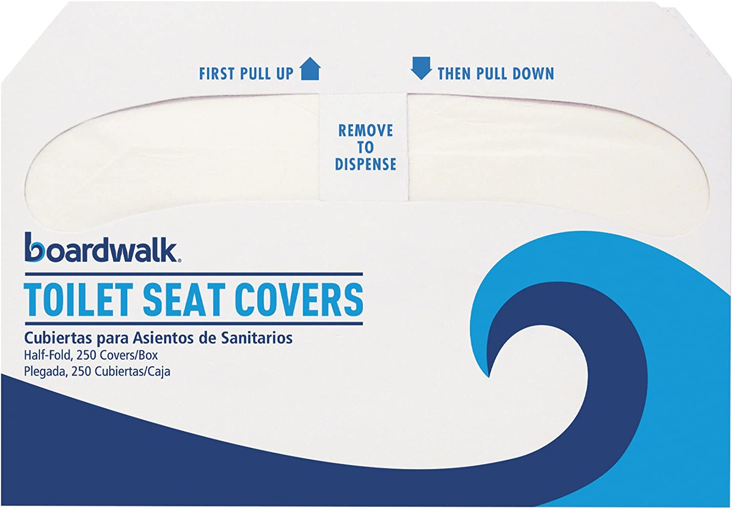1 Box Boardwalk Dispensable Toilet Seat Covers 250 Covers