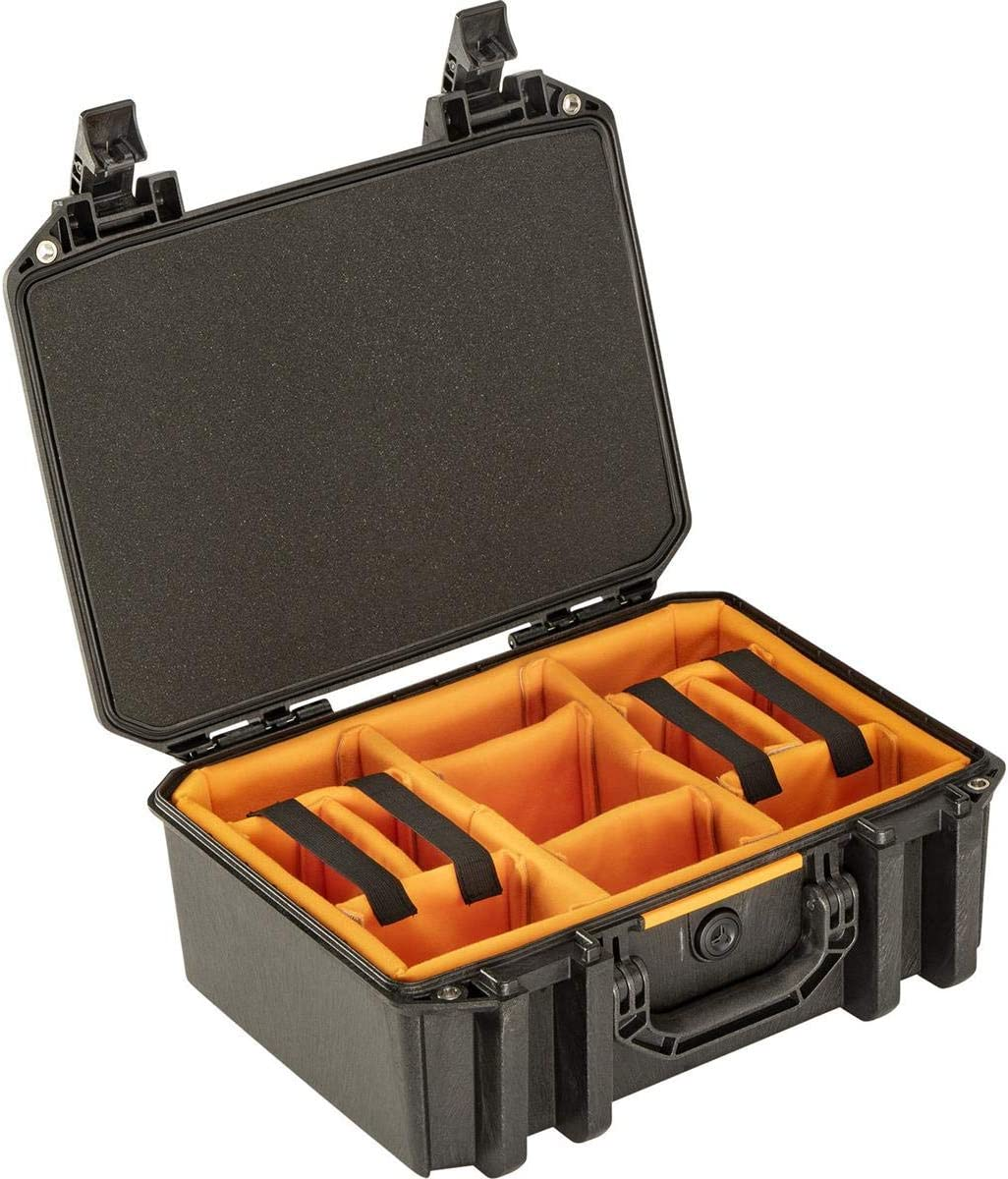 Pelican Vault V300 Large Case with Lid Foam and Dividers, Black