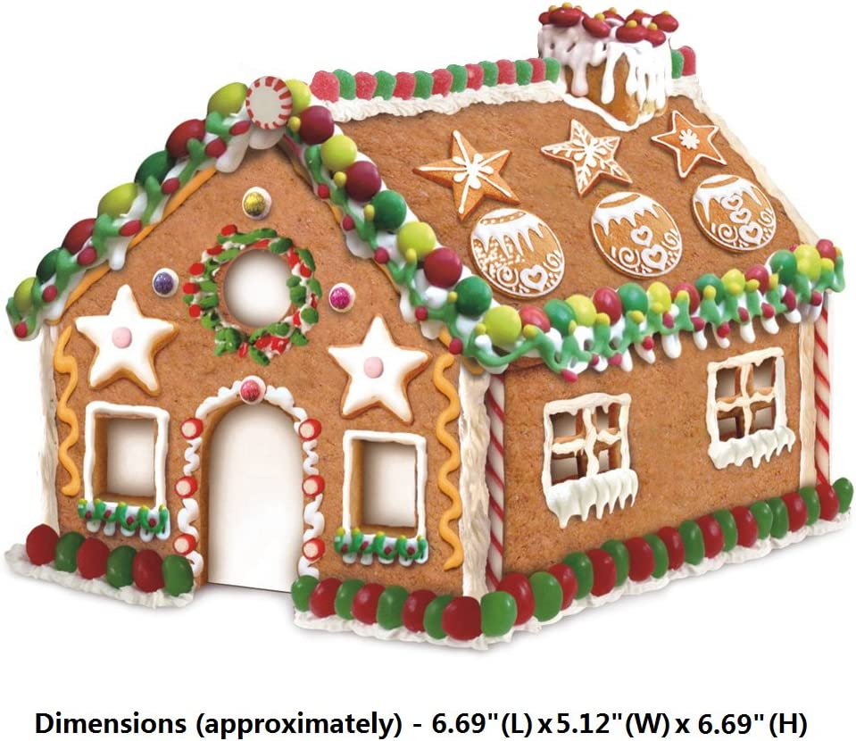 Cookie Cutters 3D Gingerbread House Christmas Stainess Steel Biscuit Mold 8 pcs