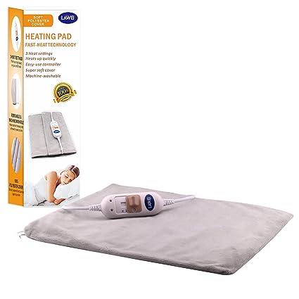 Almohadilla eléctrica de calor, de AIICIOO®, eficaz tratamiento térmico para hombros, cuello