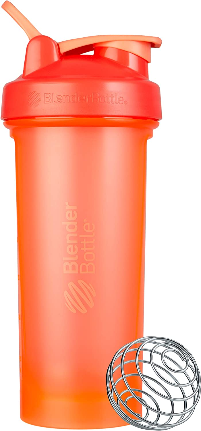 BlenderBottle Classic V2 Shaker Bottle, 28-Ounce, Coral