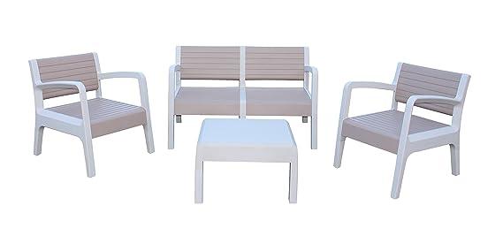 Shaf Miami - Conjunto muebles jardín/terraza, color beige