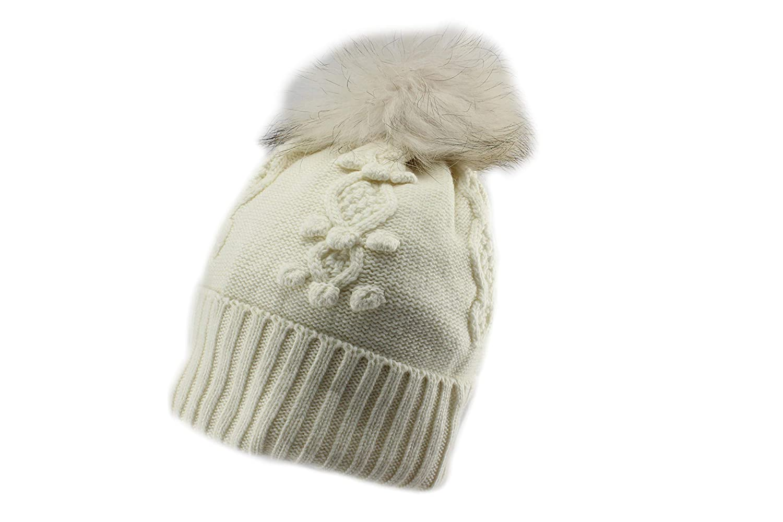 Amazon.com  Jamiks Sersej Girls Winter Pom Pom Beanie Hat  Clothing 8bfdf85724f6
