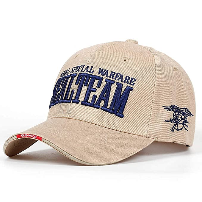 2019 US Navy Seal Team Tactical Cap Mens Army Baseball Cap Gorras Adjustable Bone Hat, Beige at Amazon Womens Clothing store:
