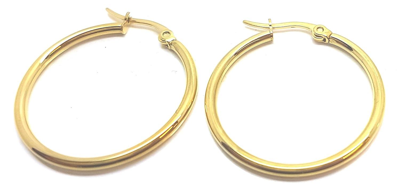 data di uscita vendita a buon mercato usa l'atteggiamento migliore Vonchic, orecchini a cerchio in oro da 9 ct, con chiusura a ...